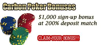Carbon poker deposit bonuses
